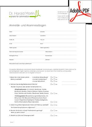 Preview Anamnesebogen