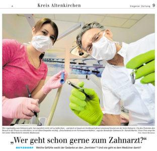"""""""Wer geht schon gerne zum Zahnarzt?"""" mit freundlicher Genehmigung der Siegener Zeitung, Lokalredaktion Kreis Altenkirchen am 14.03.2017"""